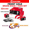 BREMBO Front Axle BRAKE DISCS + PADS for MERCEDES SPRINTER Box 314 CDI 2016->on