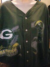 Green Bay Packers Button Up T-Shirt