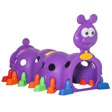 Qaba Caterpillar Climbing Tunnel Kids Indoor Outdoor 3-6 Years Old, Purple