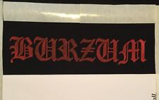 1Burzum Old Logo | Screen Printed Patch | Norwegian Black Metal Varg Metal1