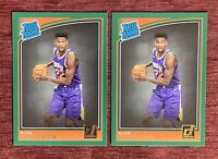 Lot of (2) 2018-19 Donruss DeANDRE AYTON Rated Rookie Green Flood SP #157 RC🔥