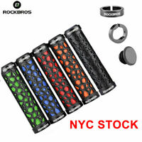 ROCKBROS Handlebar Grips Rubber Lock-on Grips MTB Folding Bike Fixed Gear 1 Pair