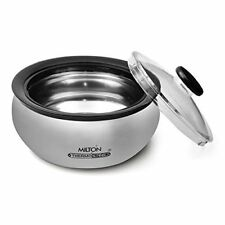 Milton clarion 2000 mlinsulated Thermosteel Casserole Roti,sabzi & Rice 100% Hot