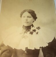 Rare Antique Southern Victorian American Fashion Young Lady! TN Cabinet Photo!