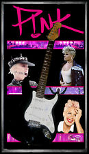 PINK ALECIA MOORE SIGNED FRAMED ELECTRIC GUITAR JAMES SPENCE AUTHENTICATION COA
