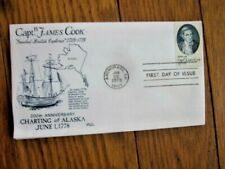 EXPLORER CAPTAIN JAMES COOK ALASKA CHARTING 1978   SCARCE BAZAAR CACHET FDC