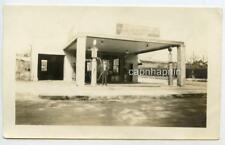 Old Gas Service Station Waco-Pep Sign Gravity Pumps Vintage 1930s Photo