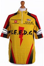 """Retro Cycling Cycle Vintage Sport Race Jersey Shirt Yellow Chest Size 43""""-CW0199"""