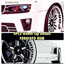 "Forgiato Wheels "" Big Lip Decal "" New OEM Genuine 4PC Set Rims Chrome Staggered/"