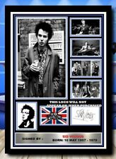 More details for (541) sid vicious sex pistols signed a4 photo//framed/unframed @@@@@@@@@