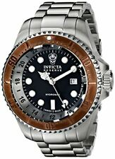 Invicta Men's 52mm Reserve Quartz 3 Hand Black Dial Watch-16972