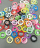 200pcs Round Resin Buttons Mixed color Hollow sewing scrapbooking craft 12.5mm