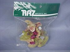 RAZ Imports Ornament ELF wChristmas Clothes RIDING FROG New In Package FShip