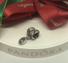 PANDORA TIED TOGETHER AMETHYST CHARM RETIRED 790476AM Authentic Ale 925