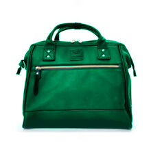 Anello mini leather bag with sling _emerald green