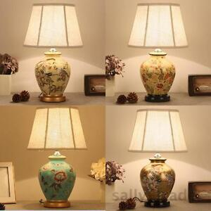 European Ceramic Table Lamp Bedside Lamp Classic Country Style Living Room Light