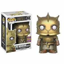 Funko Pop Mountain Game Thrones Gold Armour SDCC 2017 San Diego Montaña Tronos