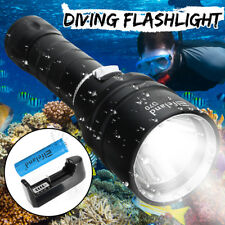Elfeland 10000Lm T6 LED Scuba Diving Flashlight Torch Underwater 100m Waterproof