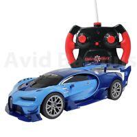 GearMaz Radio Controlled Car 1:26 Scale 27 MHz Bugatti Vision GT  Blue