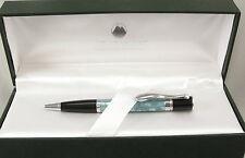Monteverde Jewelria Mini Blue Shell & Chrome Ballpoint Pen - New - 55% Off