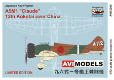 "AVI Models 1/72 Mitsubishi A5M1 Claude ""13th Kokutai over China"" # 72005"