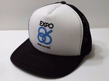 EXPO 1986 Vancouver Snapback White and Black Mesh Hat Collector Trucker Cap