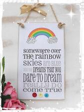HANDMADE Friend Friendship plaque Sign Children Somewhere Over The Rainbow