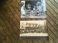2 x vinyl POSTERS man cave flags mancaveidea vintage bikes motorcycles motorbike