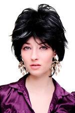 Perruque Pour Femme Cosplay Sauvage perruque Court Platine/Blanc sur noir SA069