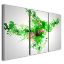 STAMPE SU TELA CANVAS ABSTRACT WATER GREEN QUADRI MODERNI ARTE E DESIGN