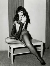 "BETTIE PAGE whip BDSM bondage photo CANVAS ART PRINT Poster  16""X 12"""