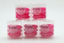 5x InvisiBobble The Traceless Hair Ring, 3 Count - Candy Pink (BNIB)