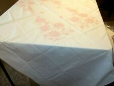 Bucilla White Cotton Table Cloth to Embroider *Sewing Craft* Roses Flowers
