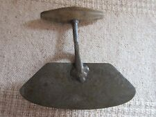 Antique Primitive 2 Blade Food Chopper With Wooden Handle