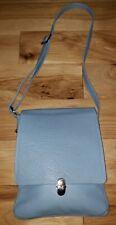 Valentina in Pell light Blue Pebbled Leather Crossbody Bag foldover messenger