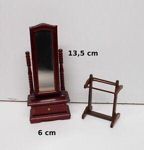 psyché et valet miniature,maison de poupée,vitrine, meuble  OCC3