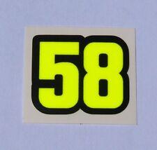 2 VALENTINO ROSSI MARCO SIMONCELLI sticker decal 58 Fluorescent Yellow  2018