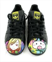 Adidas Pharrell Williams New Superstar Shelltoe Black Mr. Anime Artwork Shoes 8