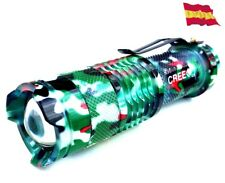 LINTERNA TACTICA LED CREE Q5 7W 400LM zoom led alominio militar t6 táctica 22