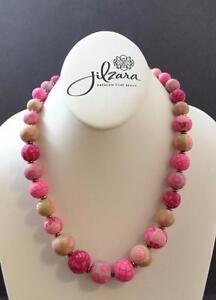 Jilzara Berry Elastic Medium Keepsake Necklace Polymer Clay Beads Handmade GY1