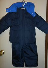 Old Navy Infant Boys Frost Free Two (2) Piece Hooded Snowsuit Navy 18-24M NWT