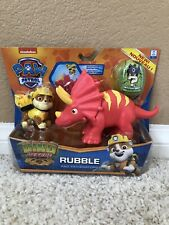 Paw Patrol DINO RESCUE Rubble Figure Triceratops  Dinosaur Nick Jr