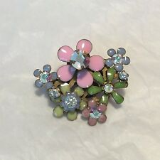 "Sorelli ""Fresh Flowers"" Crystal and Enamel Brooch/Pendent"