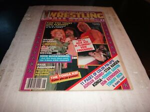 Wrestling all stars magazine june 1985 no 11 lou albano hoagn colour pin up wwe