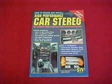 HOW TO DESIGN INSTALL HIGH PERFORMANCE CAR STEREO BOOK SPEAKER POD AMPLIFIER