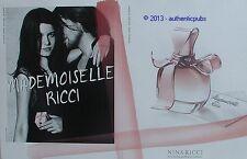 PUBLICITE PARFUM NINA RICCI MADEMOISELLE ROMANCE DE 2012 FRENCH AD PERFUME PUB