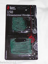 CHRISTMAS BAUBLE HOOKS PACK 150 GREEN (2 SIZES) CHRISTMAS TREES ORNAMENTAL HANG