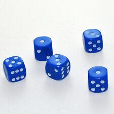 25 Stück 16mm Blaue Knobel Würfel / Augen Würfel Spielwürfel von Frobis