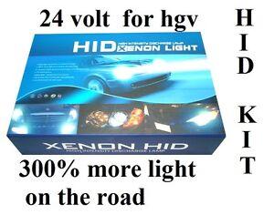 XENON HID CONVERSION KIT H7 8000K 55W FOR  HGV 24V UK SELLER