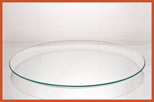 """16"""" Round Clear """"BENT"""" Glass Plate  1/8"""